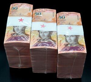 2018 Venezuela $50 Bolivares Star Replacement UNC 3 Bricks 3000 Pcs New SKU4182