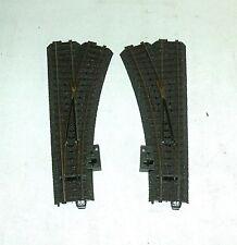 Märklin H0 24612 + 24611 C - Gleis Weiche rechts + links Weichen neuwertig