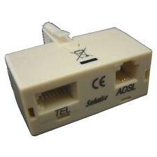 Solwise PLUG IN Microfiltro Splitter ADSL PLUG Splitter MICROFILTRO BT Testato
