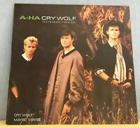"A-HA Cry Wolf 1986 UK 3-track 12"" Vinyl single EXCELLENT CONDITION"
