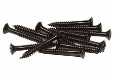 "#3 x 3/4"" Phillips Oval Head Wood Screw - misc guitar hardware - Black"