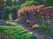 Cross Stitch Kit ~ Gold Collection Picnic At Royal Roads Flower Garden #52407
