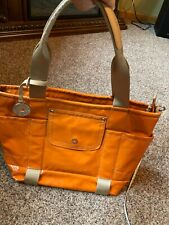 Franco Sarto orange work school travel leisure women's tote bag lots of pockets