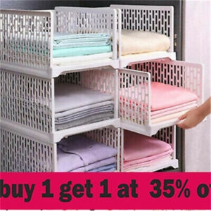 Wardrobe Drawer Units Organizer Clothes Closet Stackable Storage Boxes jh