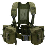 CHEST RIG Tactical British Army Airborne Webbing Set Olive Green Vest Modular