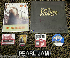 PEARL JAM Vitalogy signed LP record x5 Backstage pass Dressing room sign PSA DNA