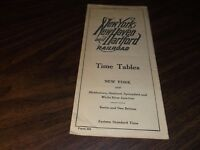 MAY 1943 NEW HAVEN RAILROAD NEW YORK TO WHITE RIVER JCT. PUBLIC TIMETABLE SCARCE