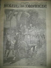 POMPIERS LONDON CONCOURS POMPE A VAPEUR ATTELAGE JOURNAL SOLEIL DU DIMANCHE 1895