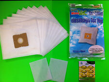10 bolsas de aspiradora bolsas de filtro polvo para TARRINGTON HOUSE VC 2500