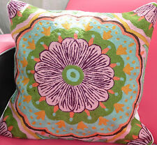 Gorgeous Hand-Embroidered Woollen Cushion Cover - 50 x 50 cm (without insert)