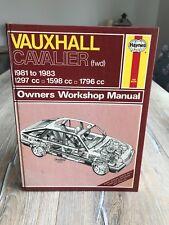 Haynes Vauxhall Cavalier (fwd) 1981 - 1983 Owners Workshop Manual Book 812