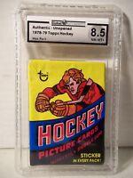 1978-79 Topps Hockey Wax Pack GA Graded NM-MT+ 8.5 - Mike Bossy RC