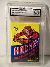 1978-79 Topps Hockey Wax Pack GA Graded NM-MT+ 8.5 - Mike Bossy RC