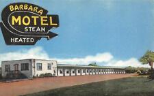 BARBARA MOTEL Sarnia, Ontario Canada Roadside Vintage Postcard ca 1940s