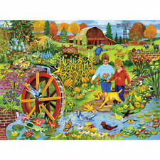 """""""Playing by the Waterwheel"""" 300-Piece Jigsaw Puzzle - Sealed"""