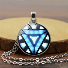 1x New Iron Man Arc Reactor Pendant Glass Necklace For Avengers Handmade Jewelry