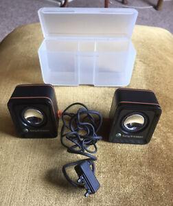 Sony Ericsson MPS-70 Mini Speakers In Case