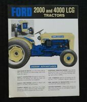 """1962 """"THE NEW FORD 2000 & 4000 LCG TRACTOR"""" SALES BROCHURE GOOD SHAPE"""