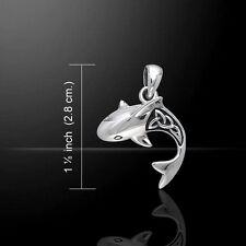 Celtic Shark .925 Sterling Silver Pendant by Peter Stone