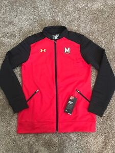 NWT Under Armour UA Women's Loose Fit Full Zip Track Jacket Maryland NCAA XS