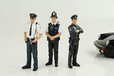Police Polizei 3 Set D / UK / NL Figuren Figur figure figures 1:18 American Dior