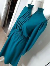 Genuine VINTAGE green dress, size 14 UK, 42 EU St Michael's 70s 80s retro