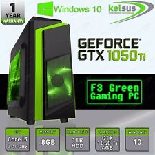 Amazing Fast Quad Core i5 GTX 1050 Ti Gaming Desktop PC 8GB RAM Windows Computer