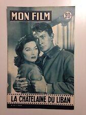 MON FILM N°561 1957 LA CHATELAINE DU LIBAN / JEAN CLAUDE PASCAL - G.M. CANALE