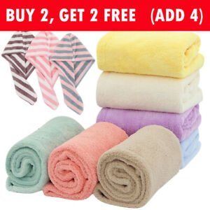 Microfiber Hair Quick Dry Towel Women Girls Shampoo Quick Magic Dryer Shower Cap