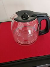 Mr. Coffee ~ Replacement ~ Carafe Decanter ~ 12-Cup ~ Clear Glass ~ Black Handle