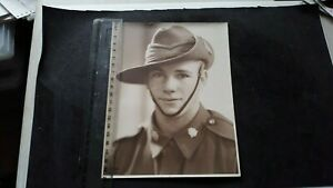 WW2 photo of a young man in the cmf note the hat band  from orange nsw real phot