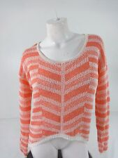 $42 NWOT LOVE ON A HANGER WOMENS SIZE S PEACHES & CREAM STRIPED SWEATER