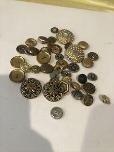 Metal Vintage Button Art Deco Lot Estate Sale Treasures