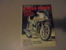 APRIL 1974 CYCLE RIDER MAGAZINE, HONDA CAFE 750 RACER,MAICO 450MX,YANAHA RD60,HO