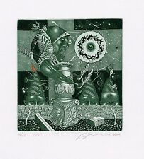 Limited Edition, Surrealistic Ex libris Etching by Juri Jakovenko, Belarus