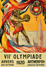 Art Ad 1920  VIIe Olympiade  Anvers  Antwerpen   Deco   Poster Print