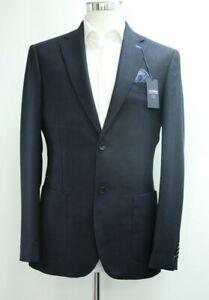 Men's T.M.LEWIN Slim Fit Carnaby Navy Blazer Jacket  Ref 64139 / 7517