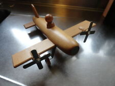 New Moulin Roty Made In France Wooden Heirloom Airplane Toy Nice!
