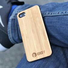 iPhone 8 Bamboo Wood Case | OXSY | UK Stock