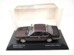 BMW 635 CSI Coupe  Dark Red Metallic 1982   Minichamps  943025125  RARE