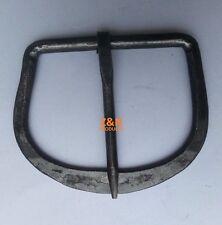 Hand Forged Medieval Belt Buckle Black Finish Carbon Steel
