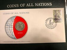 COIN OF ALL NATIONS 1979 GUATEMALA 25 CENTAVOS- SEALED IN COA CARD