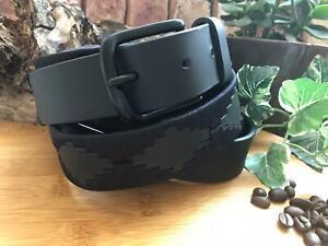 Polo Gaucho Belt Argentinian Gaucho Black Leather Premium Quality Handmade UK
