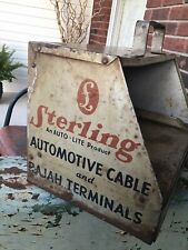 Vintage Sterling Auto-Lite Silver Sheathed Cable Cabinet-Caddy Display Rajah