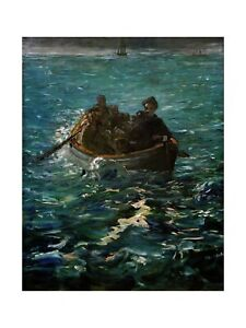 Edouard Manet - Rochefort escapes from a French penal colony 1880 Print 60x80cm
