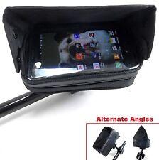 Handlebar Mounted Cell Phone GPS Case w/ Sun Visor Street Sport Bike Kawasaki