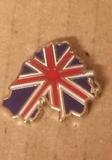 union jack northern ireland shape enamel badge ulster scots orange order loyal