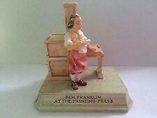 Sebastian Miniatures Ben Franklin At The Press 6218