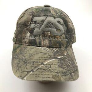 TAS Hat Cap Strapback Green Camo Adjustable Camouflage Embroidered Adult Men's