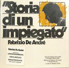 """FABRIZIO DE ANDRE' """"STORIA DI UN IMPIEGATO"""" cd vinyl replica edizione limitata"""